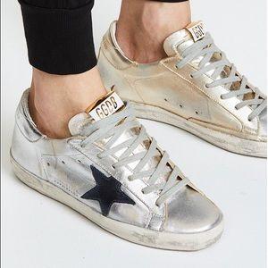 Golden Goose Silver & Gold Superstar Sneaker